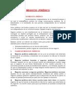 NEGOCIO JURÍDICO  informe final