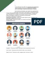 Qué son las profesiones