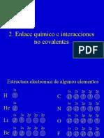 bioq02 Enlace químico e interacciones no covalentes