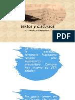 Textos y discursos
