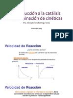 Determinación de cineticas catalisis heterogenea