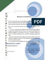 Third Assignment of Econometrics