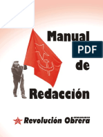 Manual de redacción. Revolución Obrera