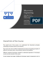 1. Introduction to microwave engineering
