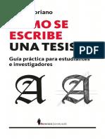 20. Cómo se escribe una tesis Guía práctica para estudiantes e investigadores - Ramón Soriano 2008