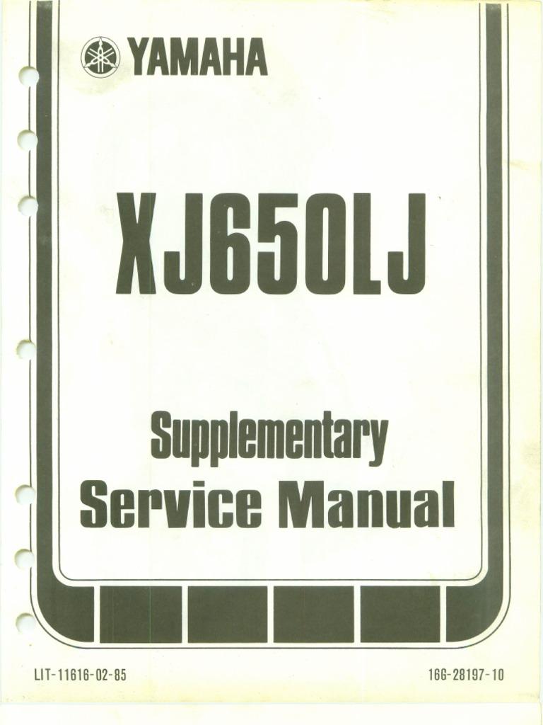 Yamaha Seca Turbo Manual