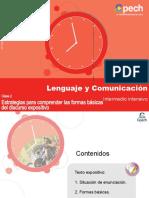 ESTRATEGIAS PARA COMPRENDER LAS FORMAS BÁSICAS DEL DISCURSO EXPOSITIVO