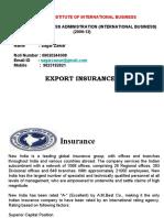 Export Insurance Final