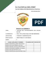 ENSAYO FUNCIONAMIENTO ESTADO MAYOR     GRUPO 5