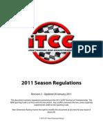 iTCC 2011 Season Rulebook