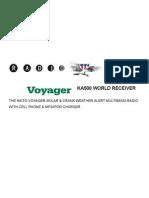 Voyager KA500 User Manual-REV 6-22-08