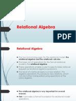 Realtional Model -relational algebra