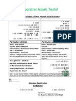 Nikah Registration Muhammad Shafi Khan