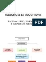 FILOSOFÍA DE LA MODERNIDAD