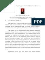 Politik Hukum Pidana Dalam Perspektif Penegakan Hukum Tindak Pidana Korupsi Di Indonesia