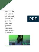 Netwey es otra opción en México de internet doméstico por 4G.docx