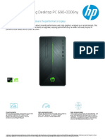 8. PC HP PAVILION GAMING DEKSTOP PC 690-0006ny