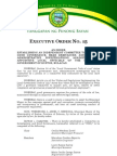 Executive Order No 15 (Investigative Committee)