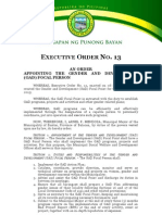 Executive Order No 14 (GAD Focal Person)