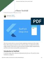 A Deep Dive Into Flutter TextField