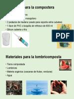 Materiales para la compostera