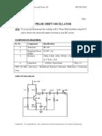 Expt 4 RC Phase Shift Oscillator (2020)