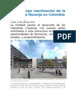 SENA apoya reactivación de la Economía Naranja en Colombia