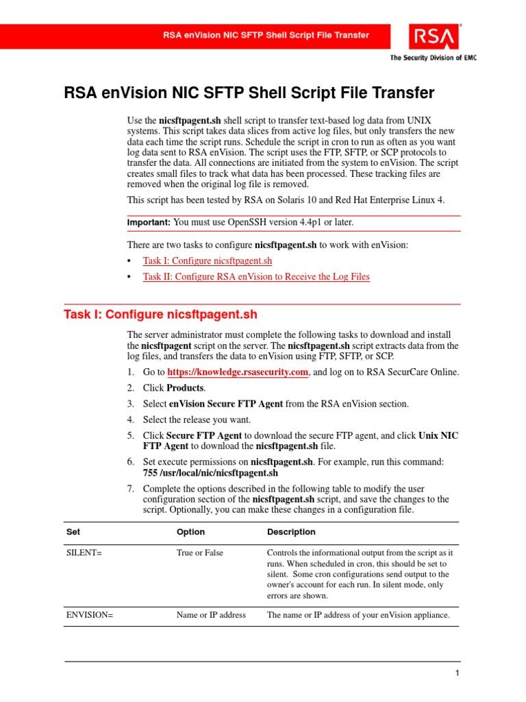NIC SFTP Shell Script File Transfer | File Transfer Protocol
