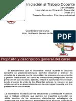 Presentacion del curso Iniciación al Trabajo Docente