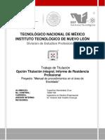 Residencia Profesional (Manual de Procedimientos en el área de Encintado) (1)