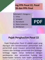 Tax Planning PPh Pasal 22, Pasal 23/26 dan PPh Final