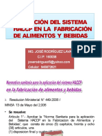 APLICACIÓN DEL SISTEMA HACCP EN LA  FABRICACIÓN DE ALIMENTOS Y BEBIDAS.pptx