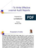 The Art in Writing Effective Internal Audit Reports