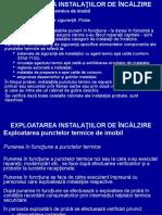EXPLOATAREA INSTALATIILOR DE ÎNCALZIRE II