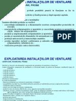 EXPLOATAREA INSTALATIILOR DE VENTILARE