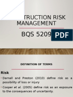 Construction Risk Management Lecture Notes