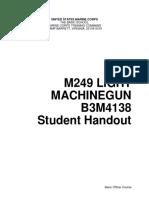 B3M4138 M249 Light Machine Gun