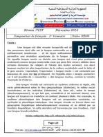 Composition francais 1er trimestre TCST 2014
