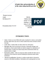 Restoration of lentic lake and production of fertilizer