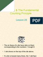 Probability and the Fundamental Countiung Principle