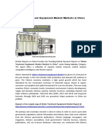 Water Treatment Equipment Markets in China [1]