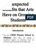 Unexpected Benefits That Arts Have on Growing Students