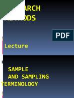 RMM Lecture 26 Samplng Terminolgy