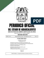 Periodico oficial del Estado de Aguascalientes