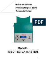 Manual do Usuário - Acuidade Visual Med Tec AV Master