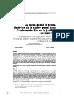 La Culpa desde la Teoría Sintética de la Acción Penal y su fundamentación en la Justicia Restaurativa.