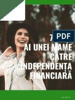 7 pasi catre independenta financiara a mamelor