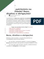 ARTIGO 03  O PATRIMÔNIO