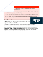 Role of Operating System pdf computer science