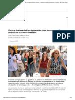 Como a desigualdade no pagamento entre homens e mulheres prejudica a economia brasileira - BBC News Brasil